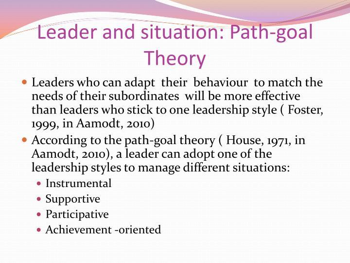 path goal theory of leadership effectiveness