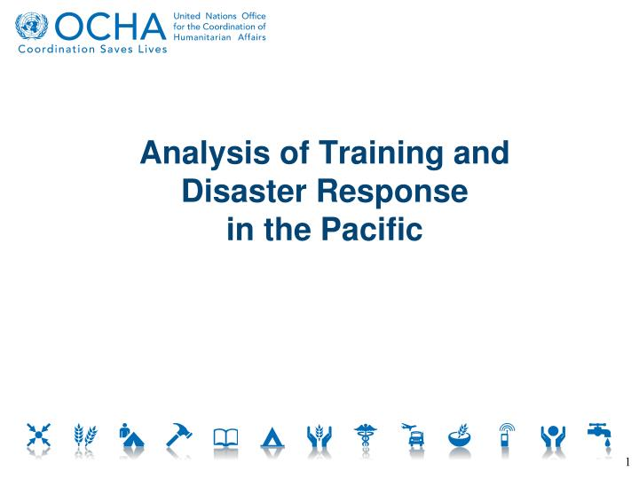 Analysis of training and disaster response in the pacific