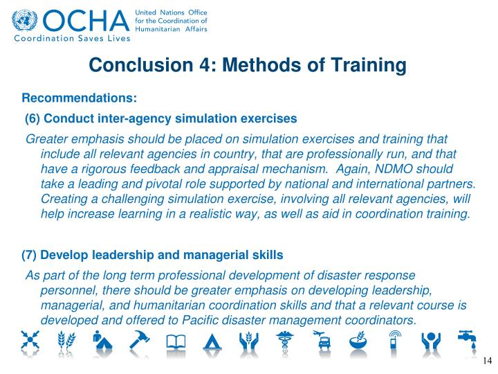 Conclusion 4: Methods of Training