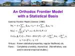 an orthodox frontier model with a statistical basis