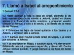 7 llam a israel al arrepentimiento