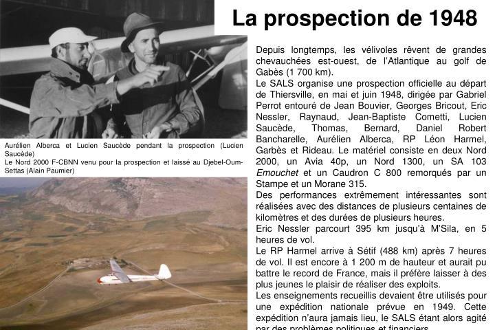 La prospection de 1948