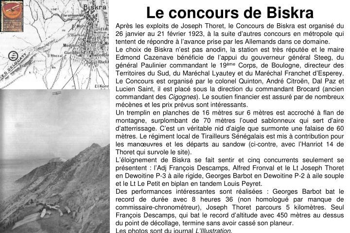 Le concours de Biskra