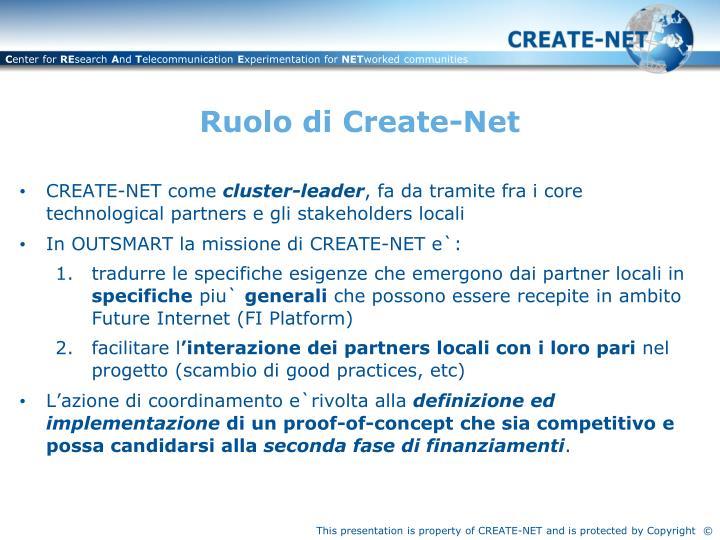 Ruolo di Create-Net