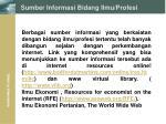 sumber informasi bidang ilmu profesi