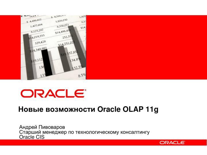 Oracle olap 11g