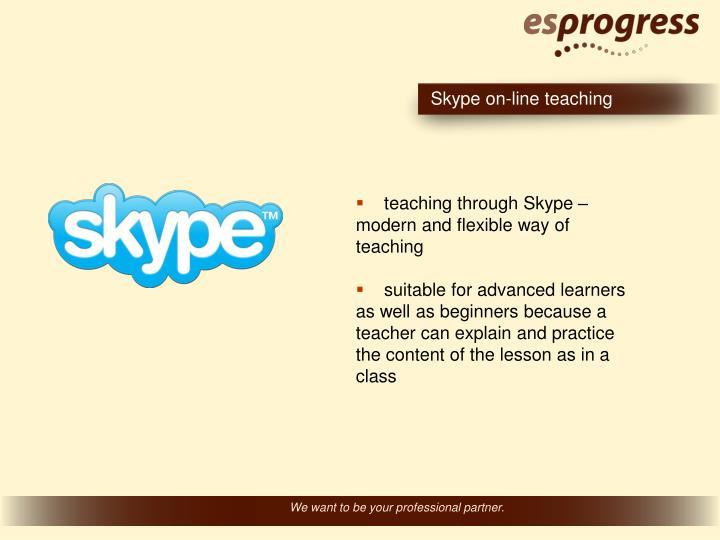 Skype on-line teaching