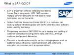 what is sap gcic