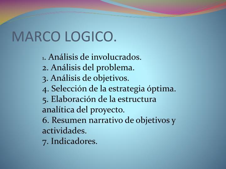 MARCO LOGICO.
