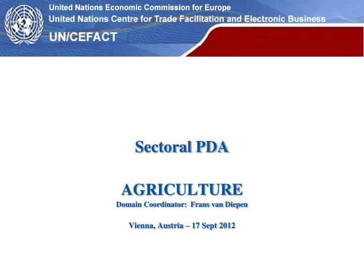 Sectoral PDA