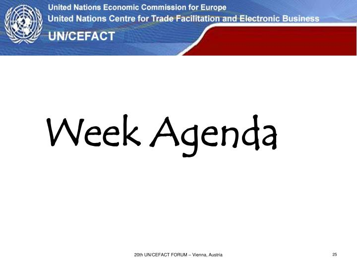 Week Agenda