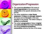 organization progression