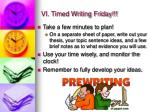 vi timed writing friday