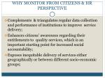 why monitor from citizens hr perspective