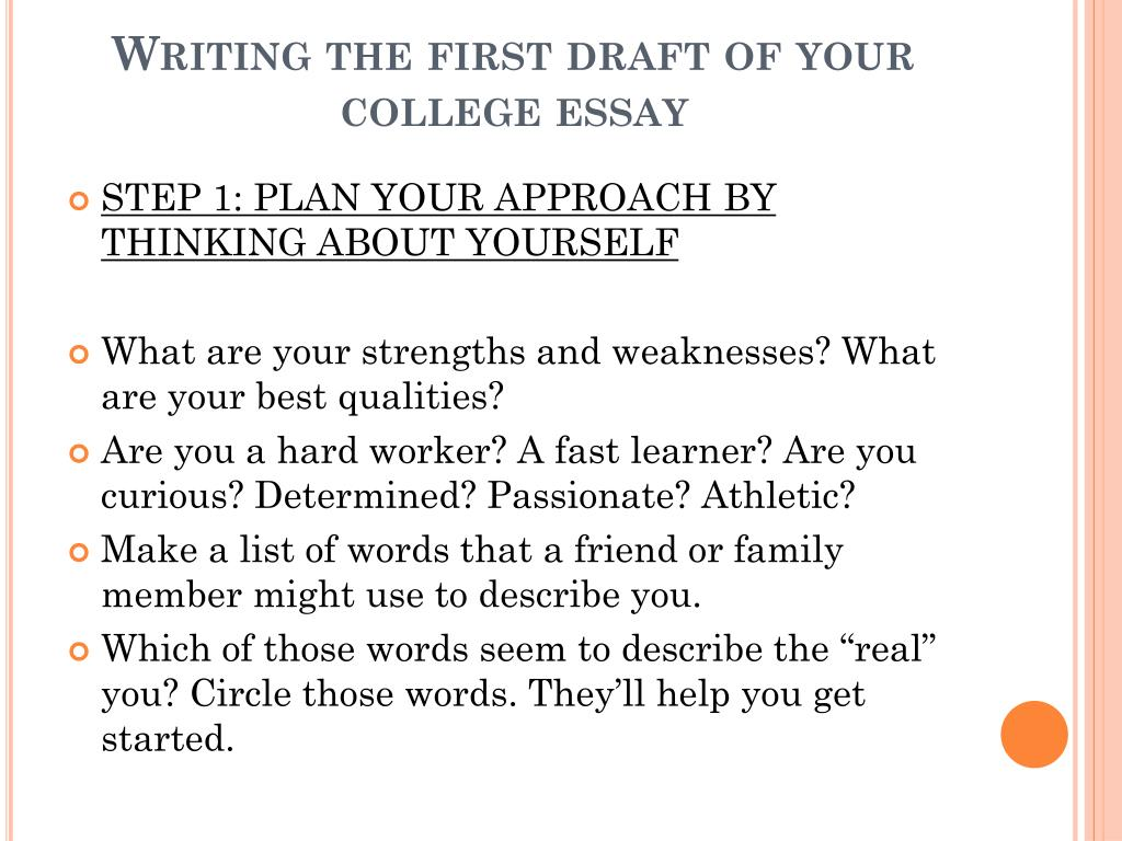 what is a first draft essay