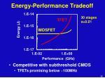 energy performance tradeoff