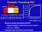 example tunneling fet