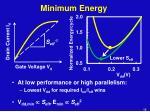 minimum energy