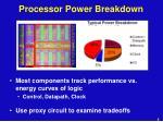 processor power breakdown