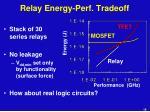 relay energy perf tradeoff
