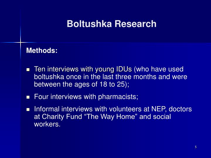 Boltushka Research