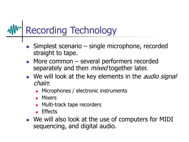 Recording Technology