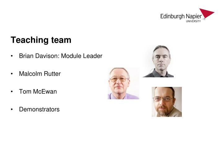Teaching team