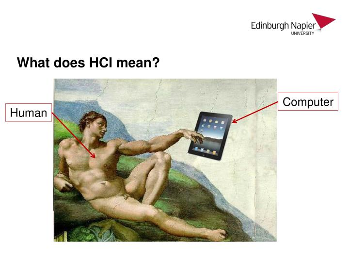 What does HCI mean?