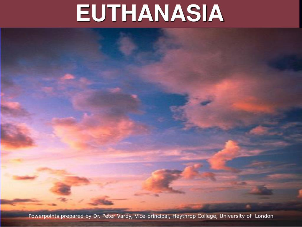 deontological approach to euthanasia