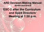 ard decision making manual barbie and gracie