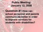 public meeting january 12 2008