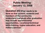 public meeting january 12 20082