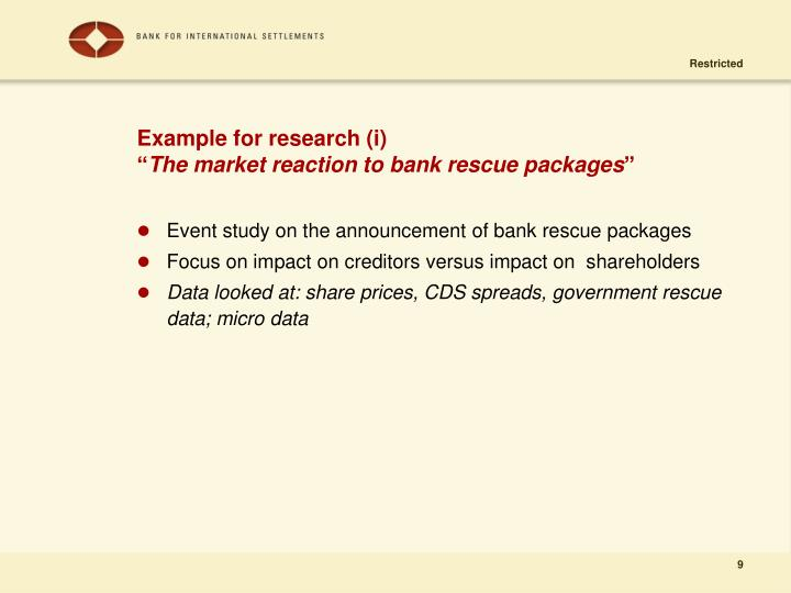 Example for research (i)