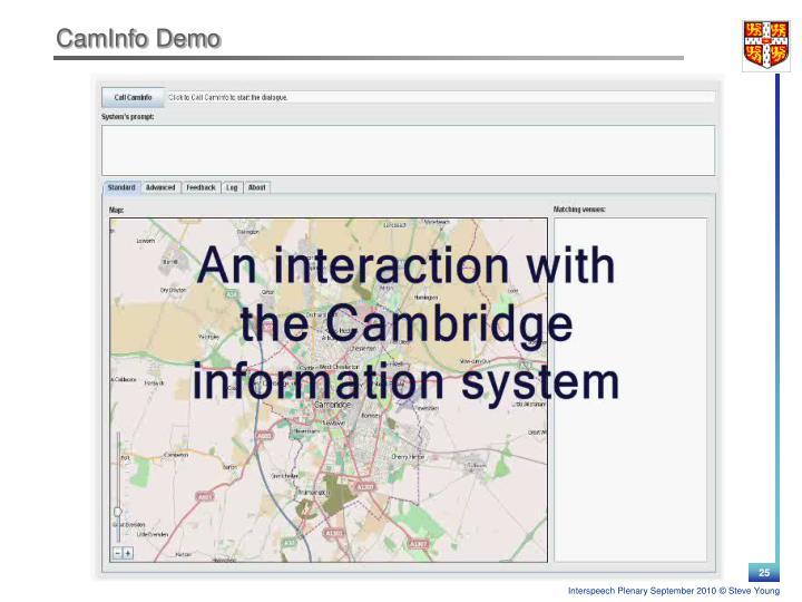 CamInfo Demo