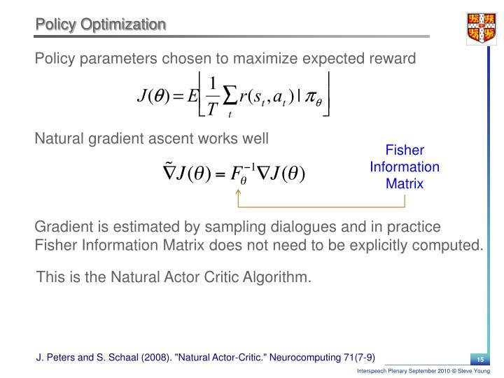 Policy Optimization