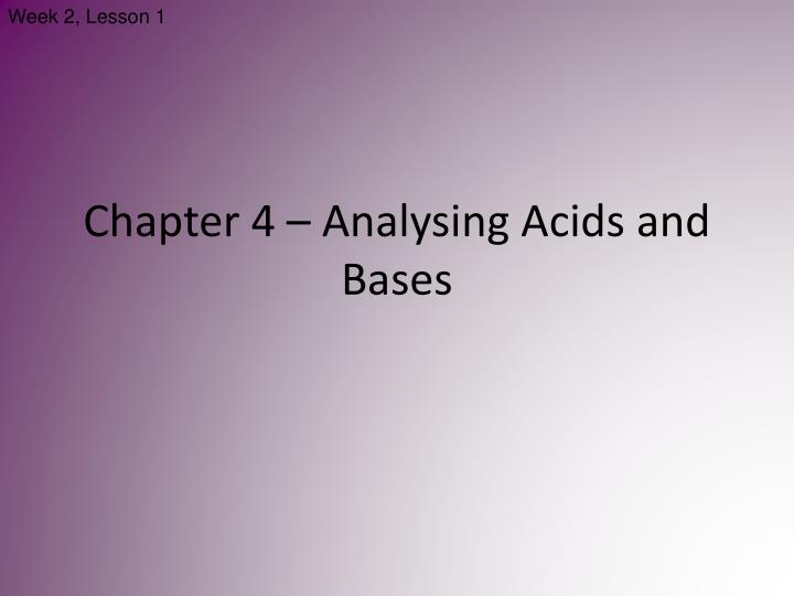 chapter 4 analysing acids and bases n.