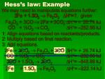 hess s law example