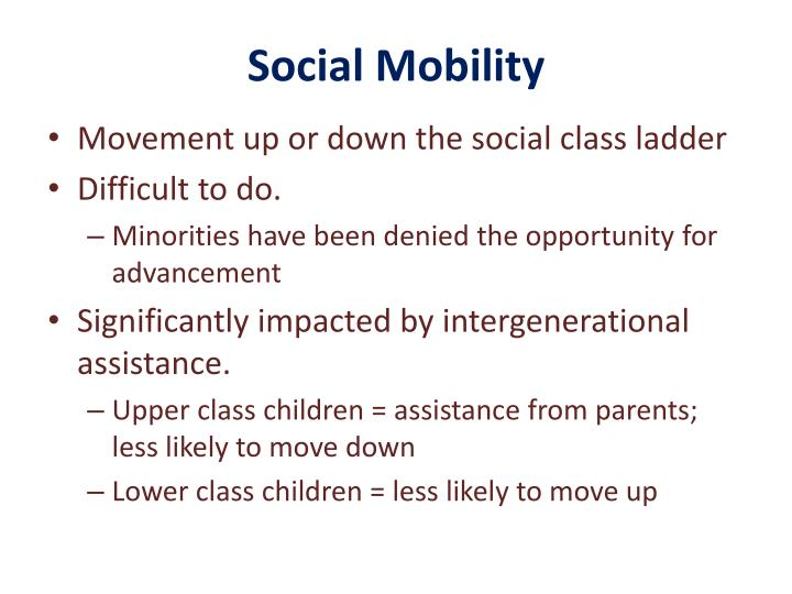 social class ladder