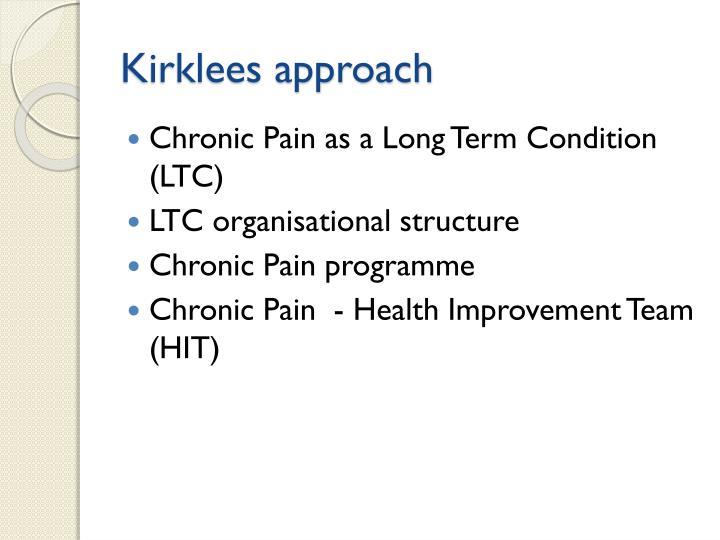 Kirklees approach