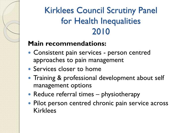 Kirklees Council Scrutiny Panel