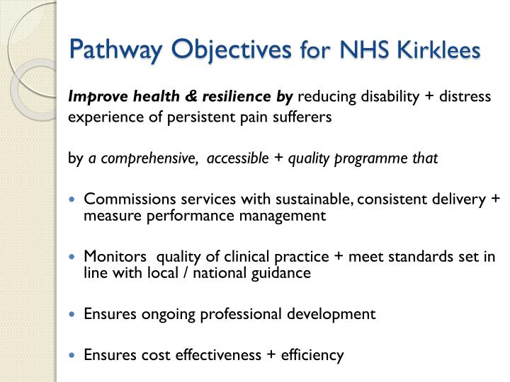 Pathway Objectives