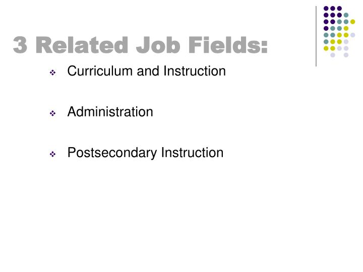 3 Related Job Fields: