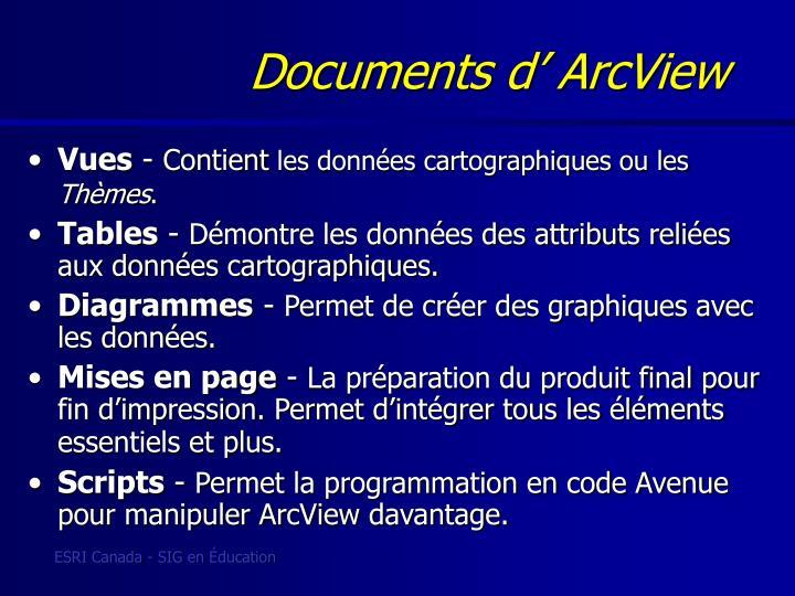 Documents d' ArcView