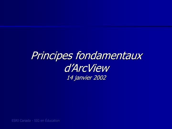 Principes fondamentaux d'ArcView