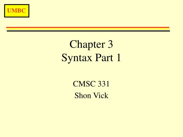 chapter 3 syntax part 1 n.