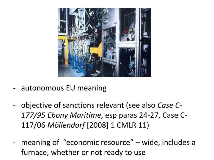 autonomous EU meaning
