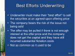 best efforts underwriting