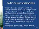 dutch auction underwriting