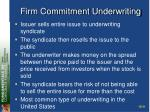 firm commitment underwriting
