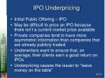 ipo underpricing